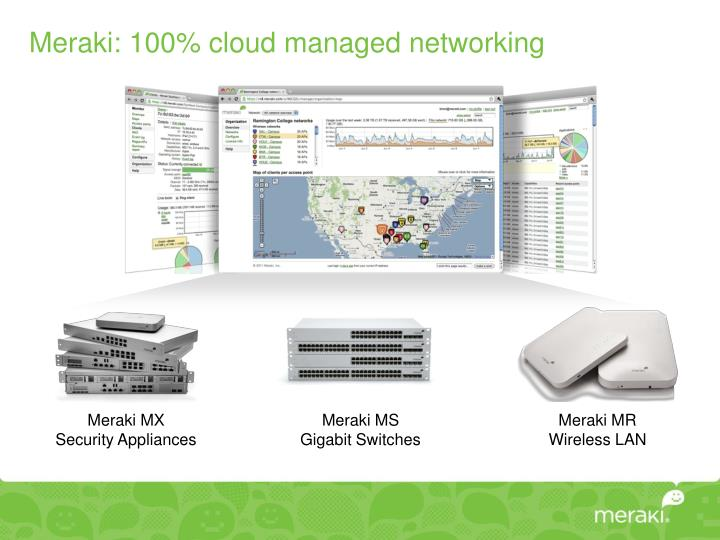 Meraki: 100% cloud managed networking