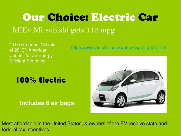 Our choice electric car