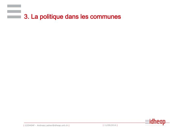 3. La politique dans les communes