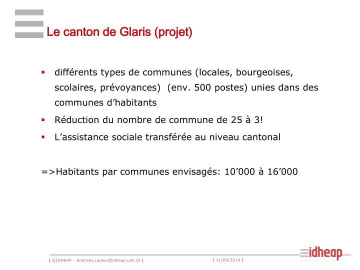 Le canton de Glaris (projet)