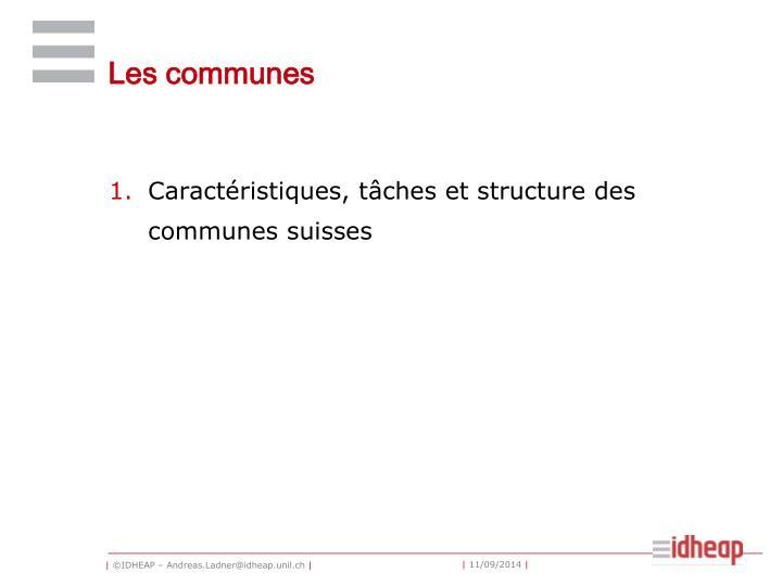 Les communes