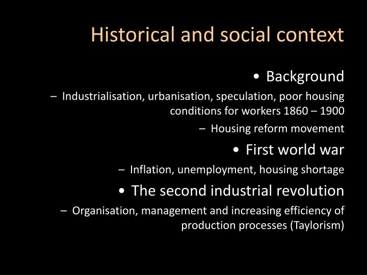Historical and social context
