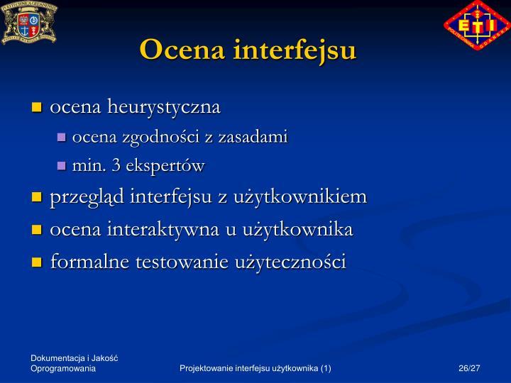 Ocena interfejsu
