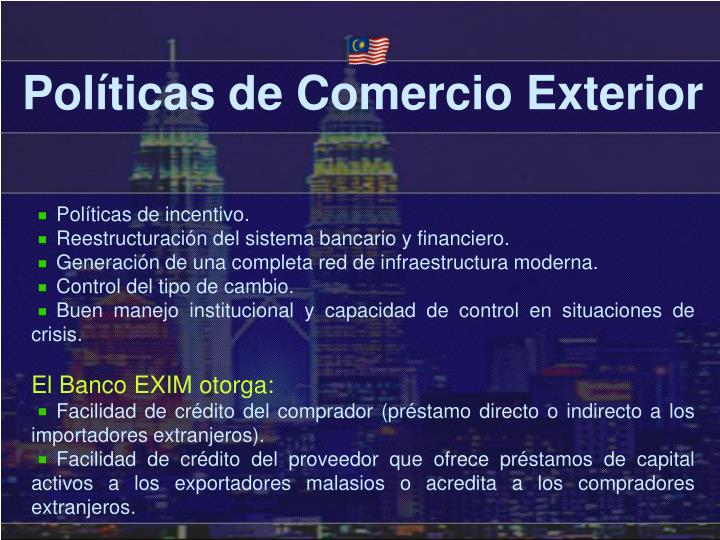 Políticas de Comercio Exterior