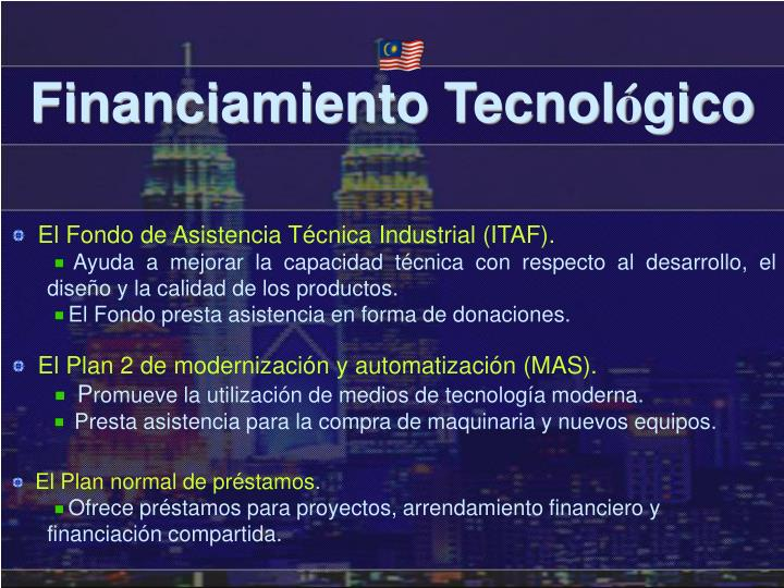 Financiamiento Tecnol