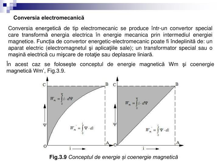Conversia electromecanică