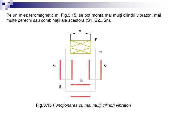 Pe un miez feromagnetic m, Fig.3.15, se pot monta mai mulţi cilindri vibratori, mai multe perechi sau combinaţii ale acestora (S1, S2...Sn).