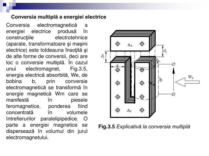 Conversia multiplă a energiei electrice