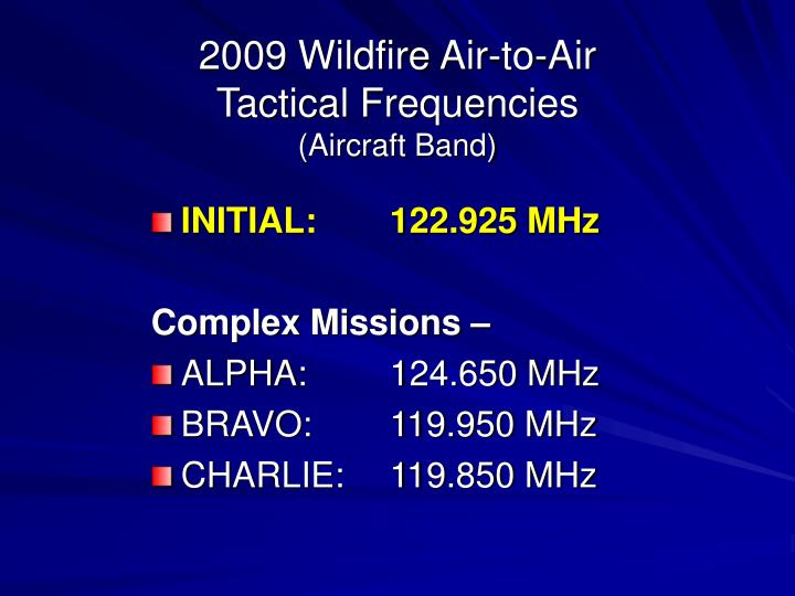2009 Wildfire Air-to-Air