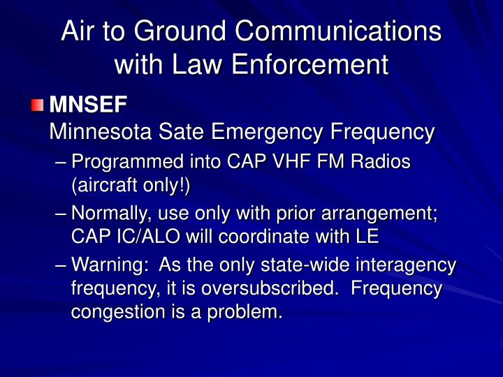 Air to Ground Communications