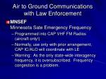air to ground communications with law enforcement