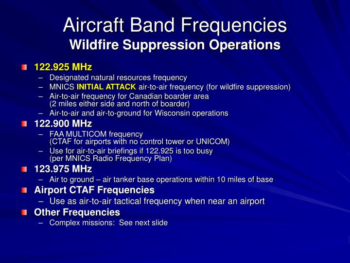Aircraft Band Frequencies