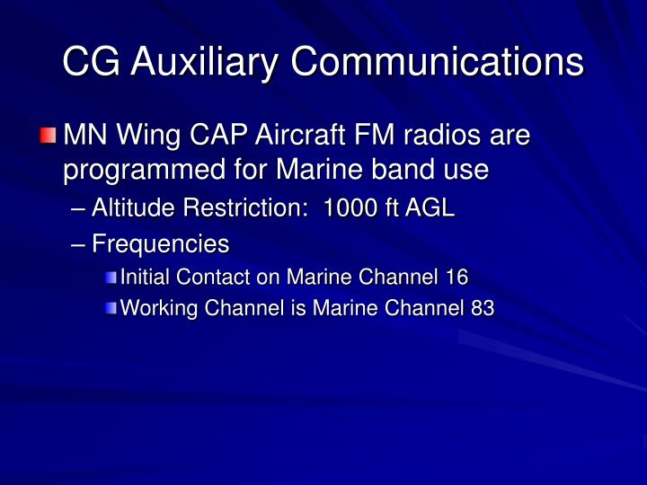 CG Auxiliary Communications
