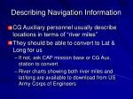 describing navigation information
