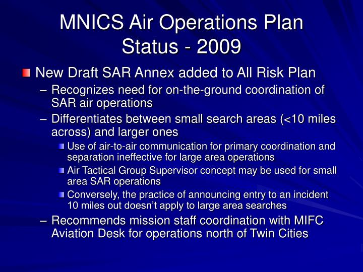 MNICS Air Operations Plan
