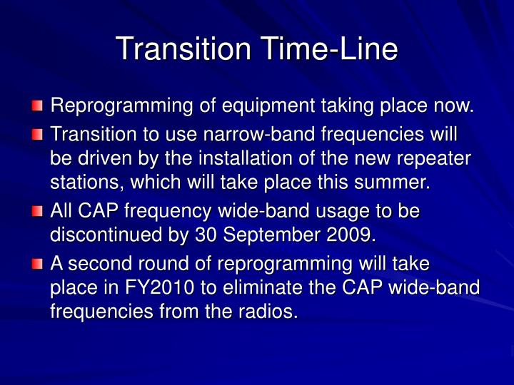 Transition Time-Line