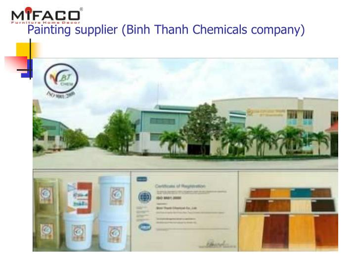 Painting supplier (Binh Thanh Chemicals company)