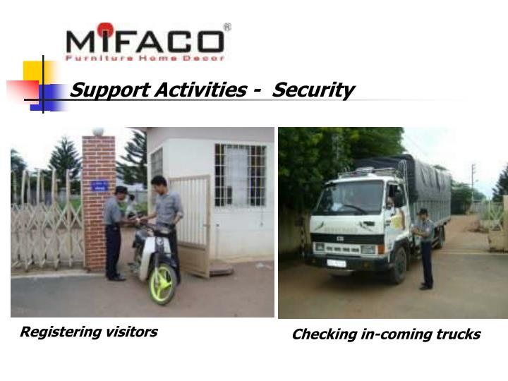 Support Activities -  Security