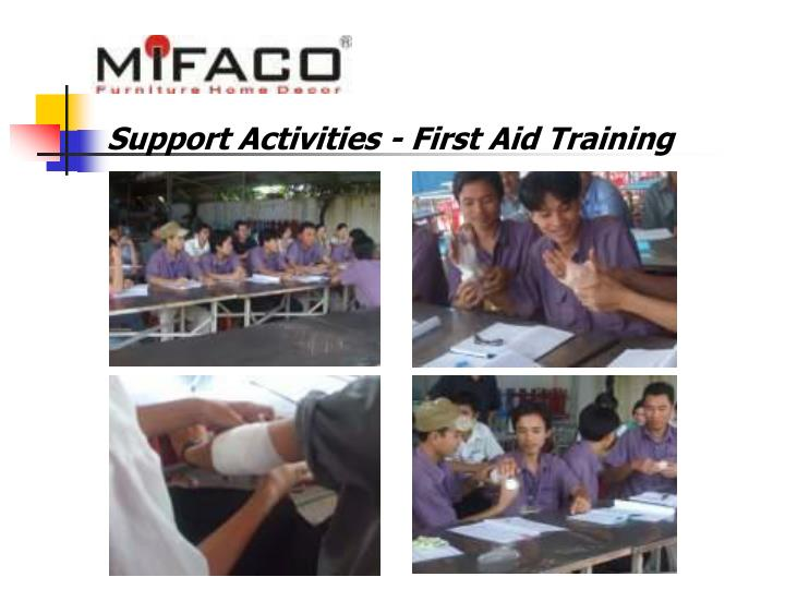 Support Activities - First Aid Training