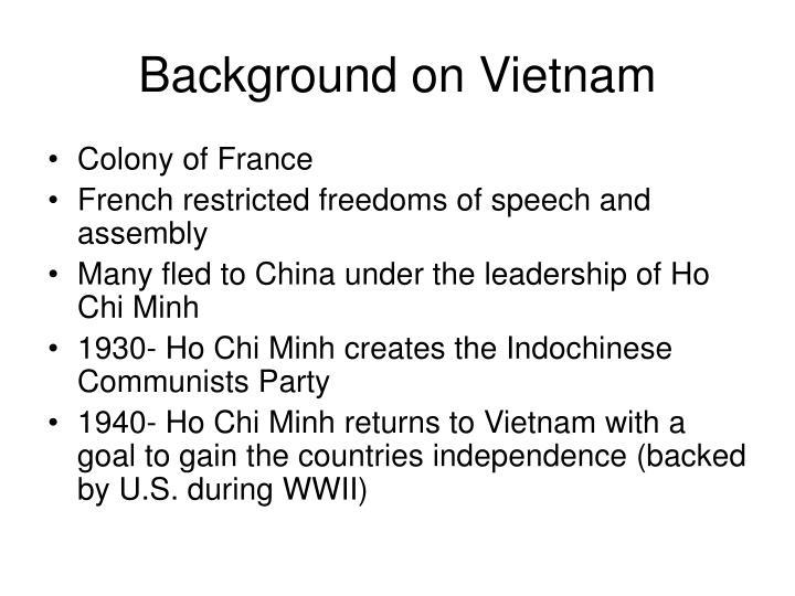 Background on Vietnam