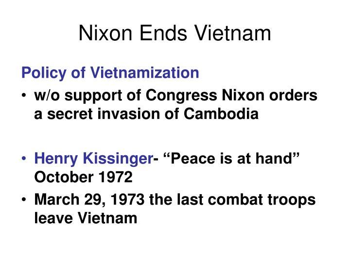 Nixon Ends Vietnam