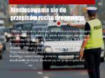 niestosowanie si do przepis w ruchu drogowego
