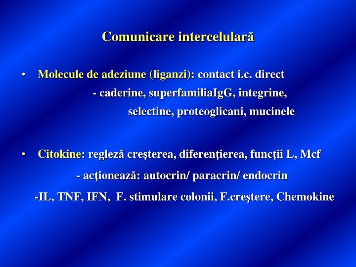 Comunicare intercelular