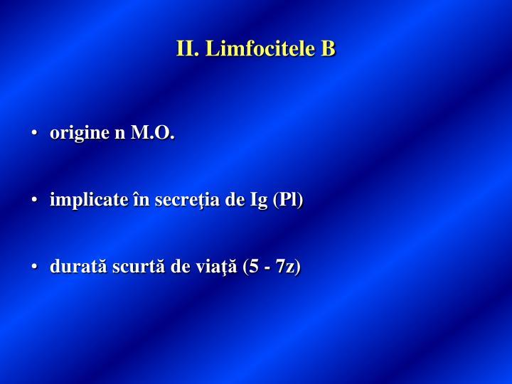 II. Limfocitele B