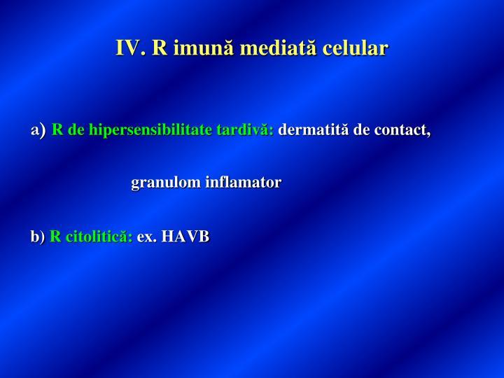 IV. R