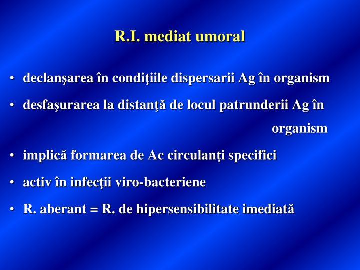 R.I. mediat umoral