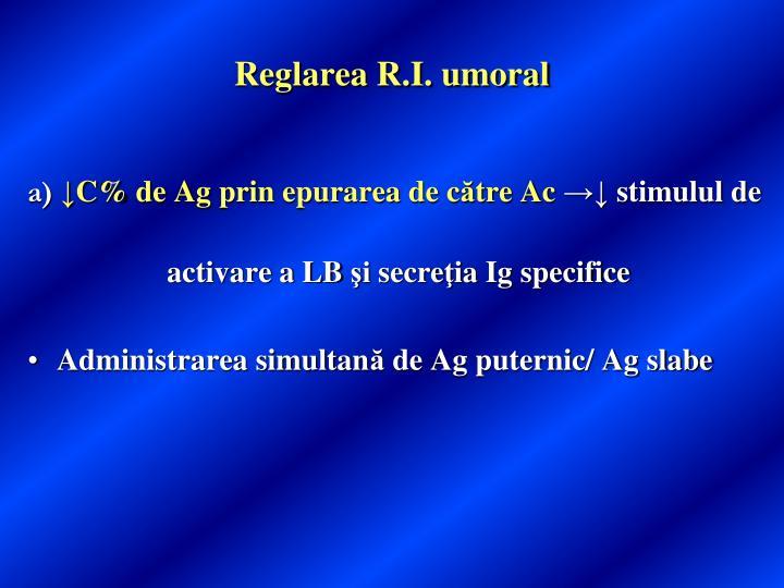 Reglarea R.I. umoral