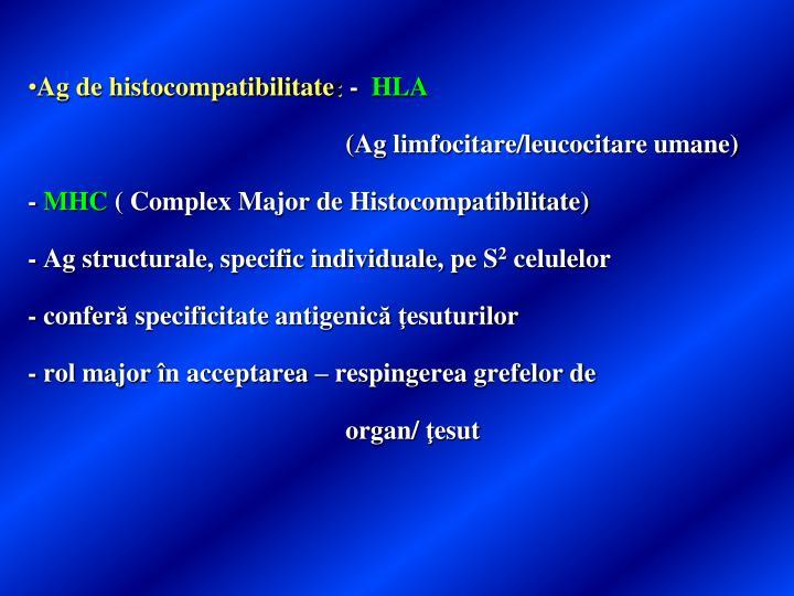 Ag de histocompatibilitate