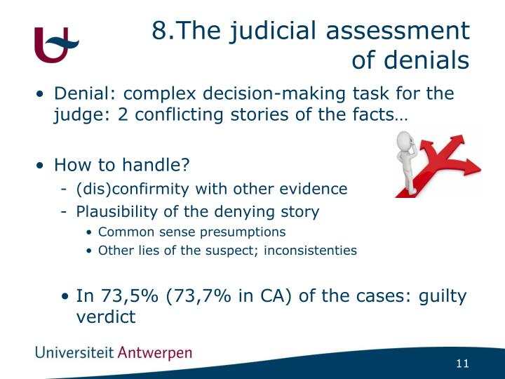 8.The judicial assessment