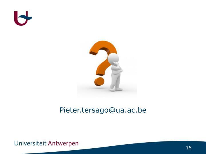 Pieter.tersago@ua.ac.be