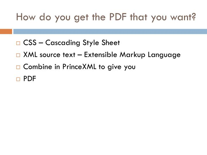 How do you get the PDF that you want?