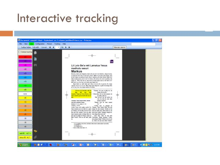 Interactive tracking