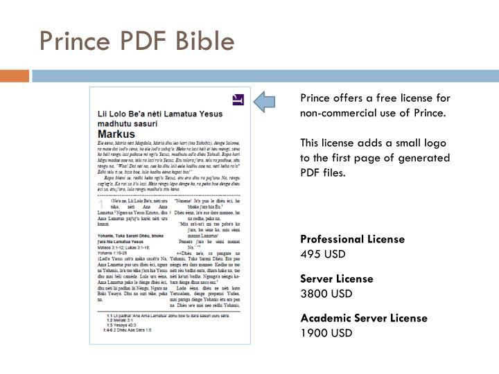 Prince PDF Bible
