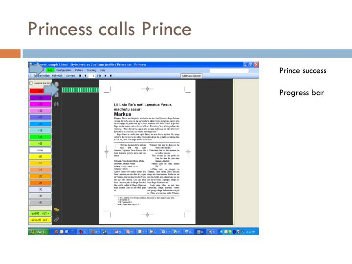 Princess calls Prince