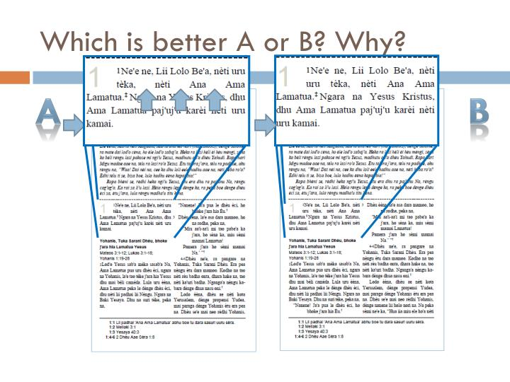 Which is better A or B? Why?