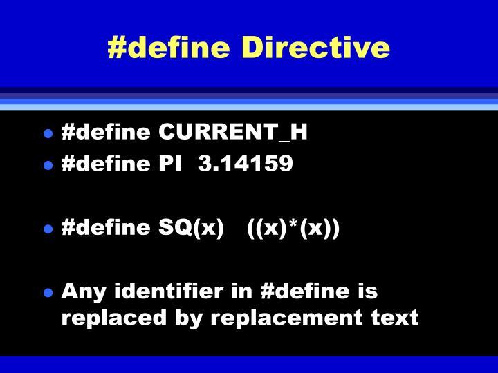 #define Directive