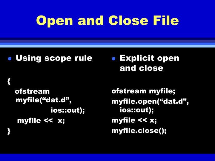 Using scope rule