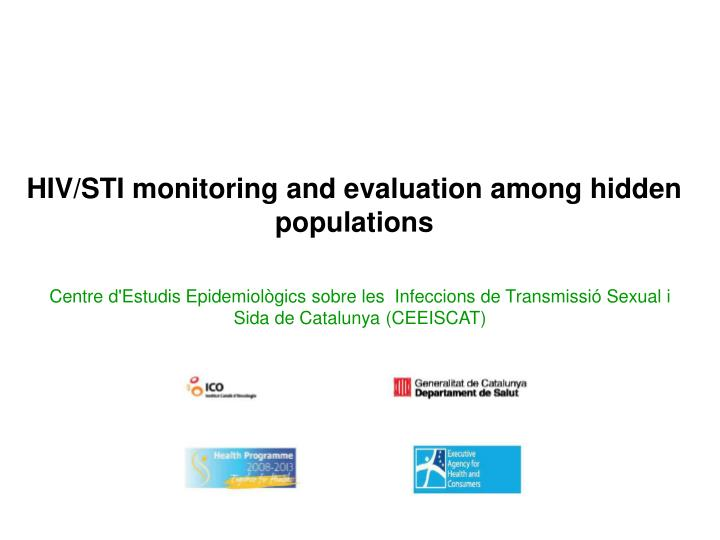 hiv sti monitoring and evaluation among hidden populations