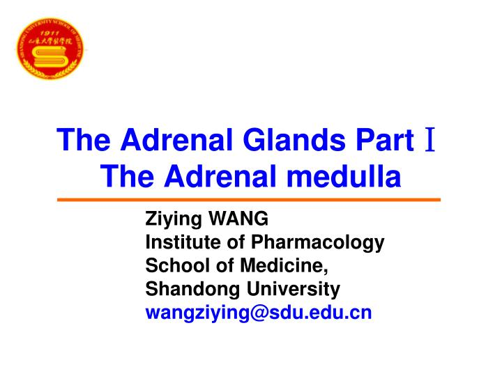 The adrenal glands part the adrenal medulla