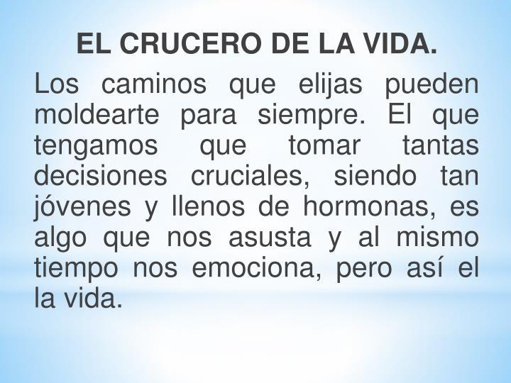 EL CRUCERO DE LA VIDA.