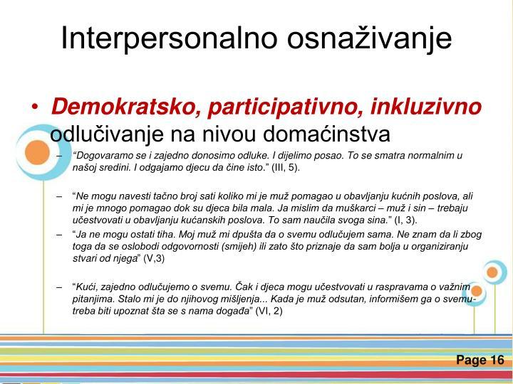 Interpersonalno osnaživanje