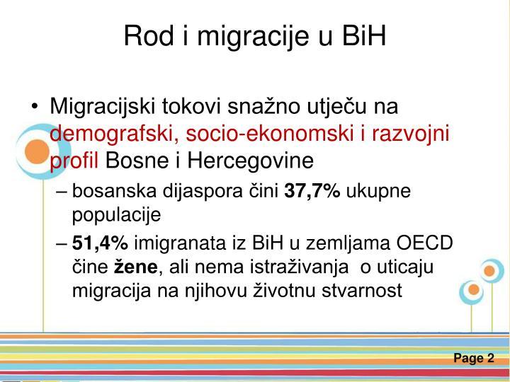 Rod i migracije u BiH