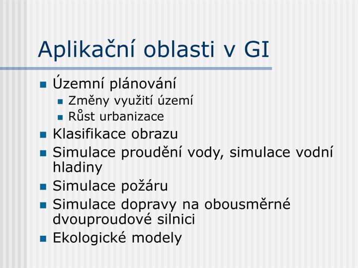 Aplikační oblasti v GI
