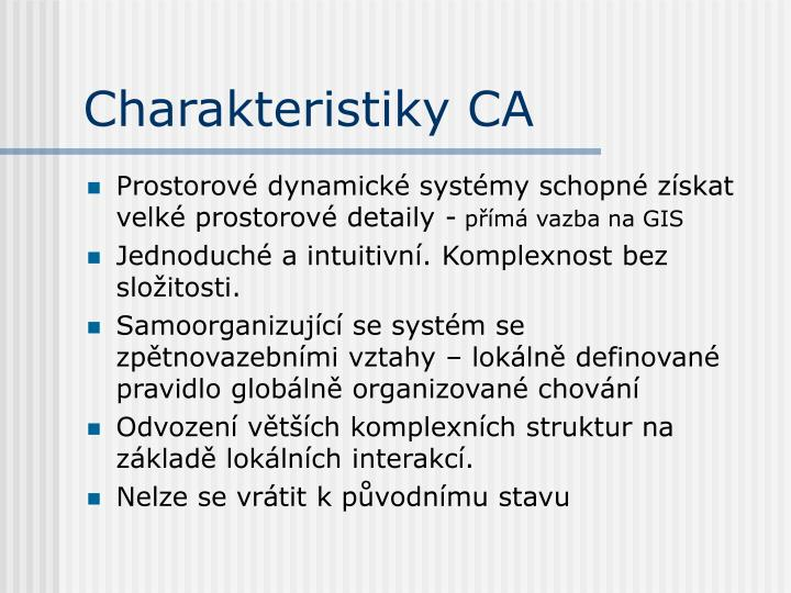 Charakteristiky CA