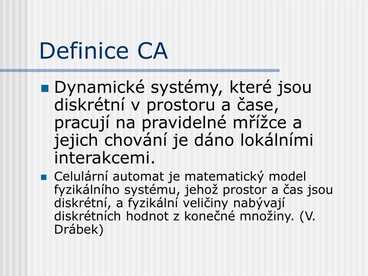 Definice CA