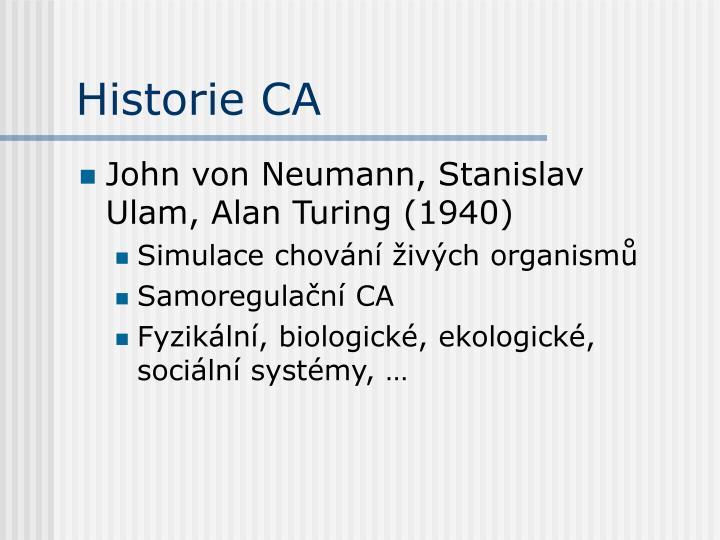 Historie CA
